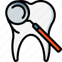 equipment, hygiene, medical, mirror, mouth, tool, tooth icon