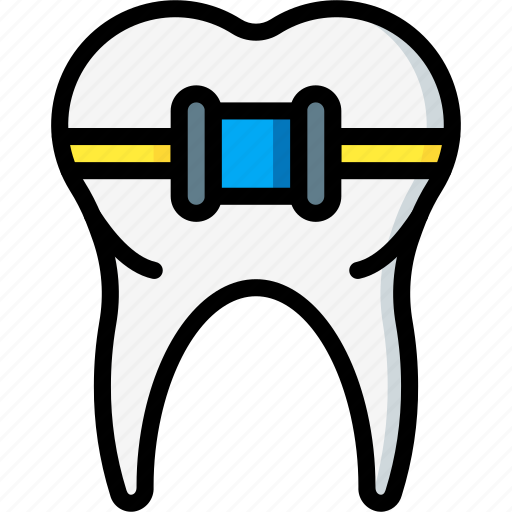 braces, clean, dentist, hygiene, medical, straighten icon