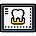 clean, dentist, equipment, hygiene, medical, monitor, tooth icon