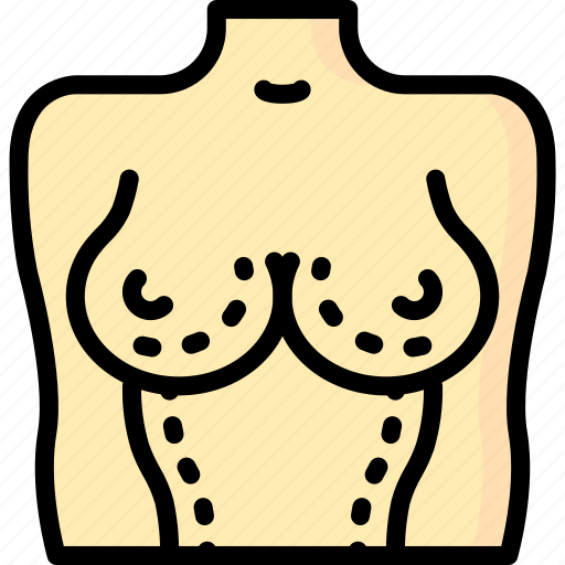 beauty, breast, clinic, costmetic, medical, surgery icon