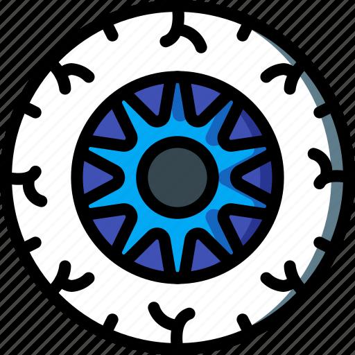 ball, bodypart, eye, medical, pupil, retina icon