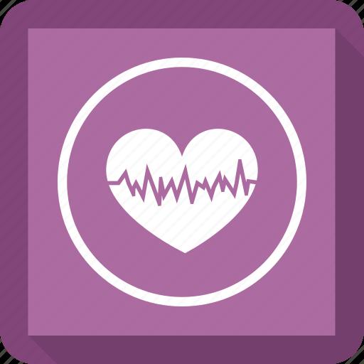beat, fitness, health, heart icon