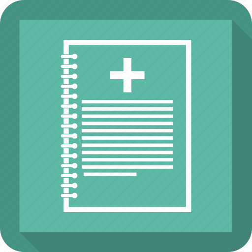 medical, notepad, paper, records, report icon
