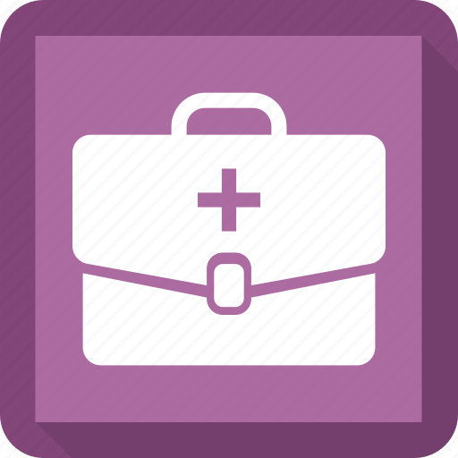Bag, medical, goods, health icon