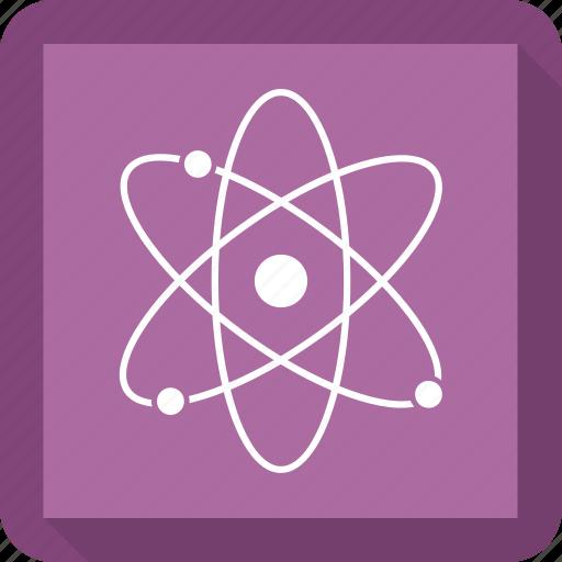 atom, physics, proton, science icon