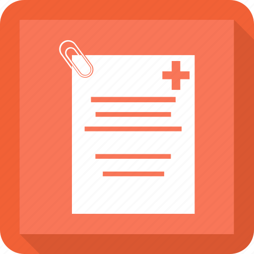 medical, paper, records, report icon