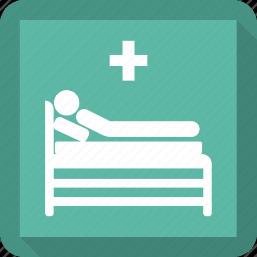 bed, hospital, medicine, pensioners icon