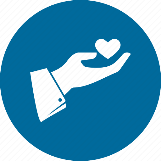 hand, healthcare, heart icon