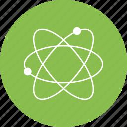 atom, physics, process, science icon