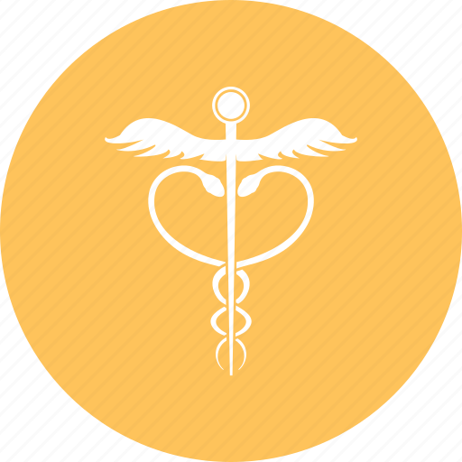 Caduceus silhouette, medical caduceus, pharmacy icon - Download on Iconfinder