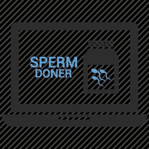 hospital, hospital laptop, hospital records, sperms icon