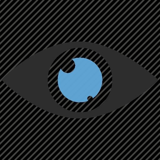 eye, eyeball, look, search, spy, vision icon