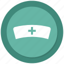 nurse, nurse cap, nurse clothing, nurse hat icon