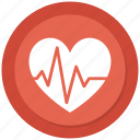 beat, ecg, ekg, heart, heartbeat, pulse, rate icon