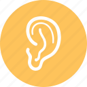 ear, hearing, lisen, sound icon