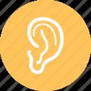 ear, hearing, lisen, sound