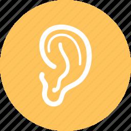 ear, hearing, lisen, sound icon