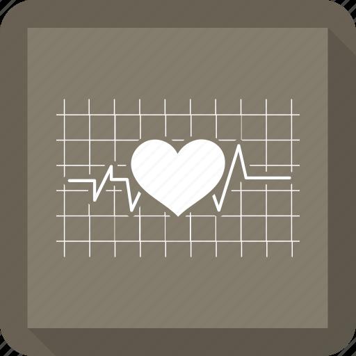 health, heart, medical, pulse icon