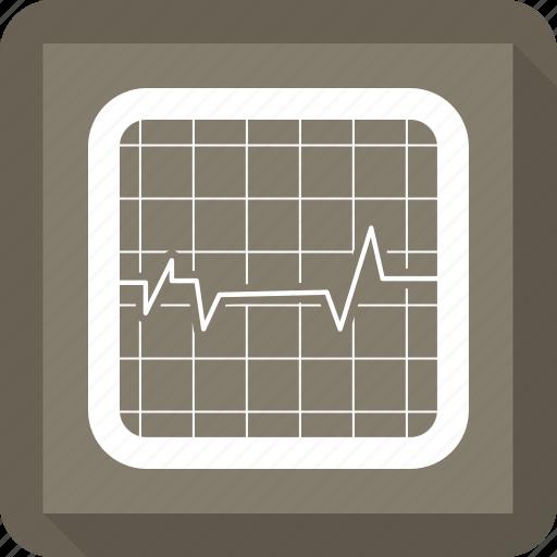 cardiograph, ekg, heartbeat icon