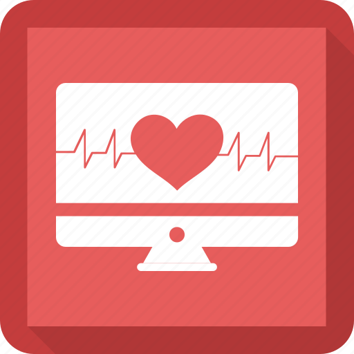 cardiograph, ekg, heartbeat, monitor icon