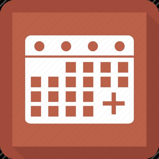 calendar, calendar date, date, medical calendar, yearbook icon