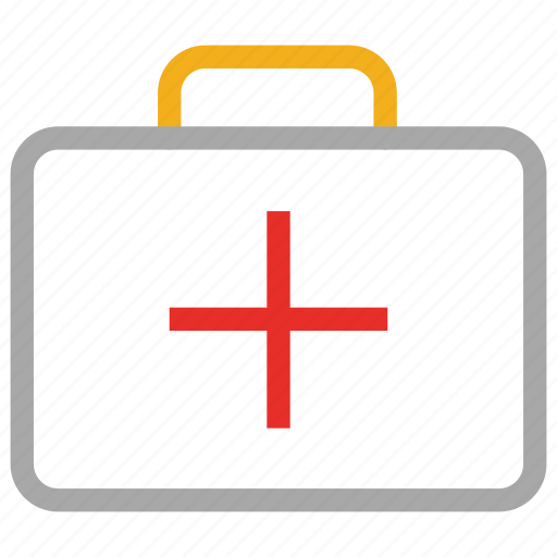 first aid, first aid kit, health bag, medical bag icon