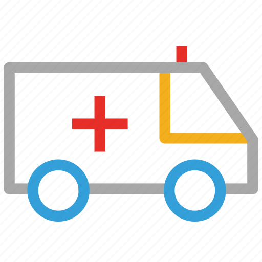 ambulance, emergency, emt, healthcare, medical aid, medical transport, rescue squad icon