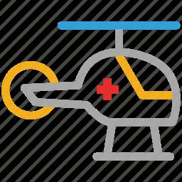helicopter, heliopad, medevac, rescue service icon