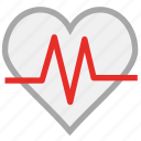 heart, heartbeat, human heart, pulse icon
