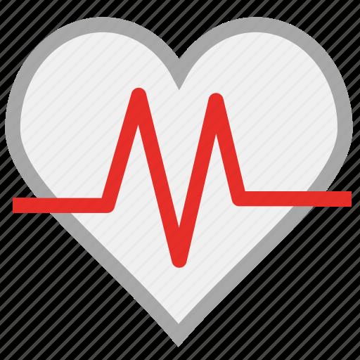 heart, heartbeat, human heart, pulse icon