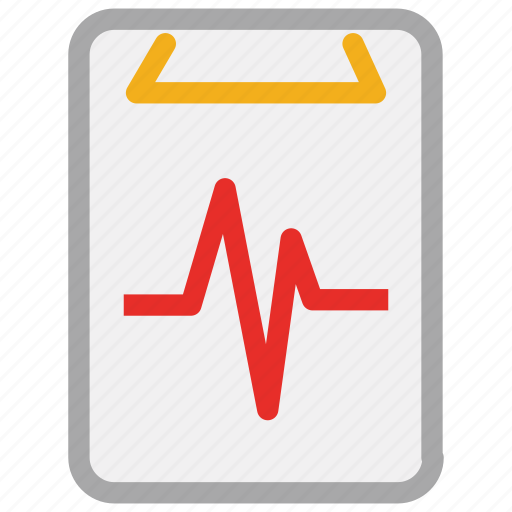electrocardiogram, life line, pulsation, pulse rate icon