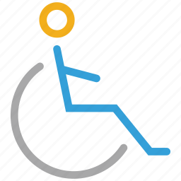 accessible, crippled, disabled, handicap, wheelchair icon