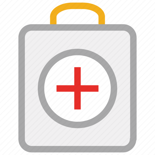 doctor, emergency, first aid bag, first aid kit, medical bag, medicines icon