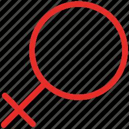 female, female sign, gender, lady icon
