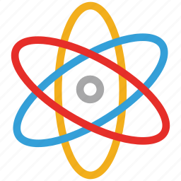 atomic, molecule, nuclear, particle, physics, science icon