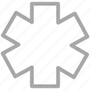 life star, medical symbol, rescue symbol, star of life icon