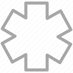 life star, medical symbol, rescue symbol, star of life icon