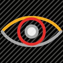 body part, eye, view, vision icon