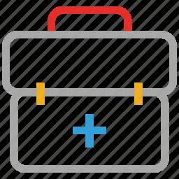 bag, emergency, first aid bag, medical bag, portfolio icon