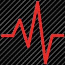 heartbeat, lifeline, pulse, pulse wave icon