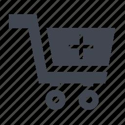 basket, buy, ecommerce, hospital trolley, medicine box, medicine cart, shipping, shopping, store, trolley icon