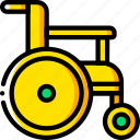 chair, disabled, medical, mobility, wheel icon