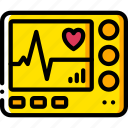 care, equipment, health, heart, medical, monitor, rate icon