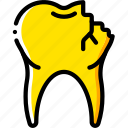 clean, cracked, dentist, hygiene, medical, tooth icon
