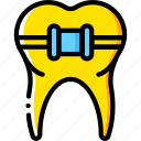 braces, clean, dentist, hygiene, medical, tooth icon