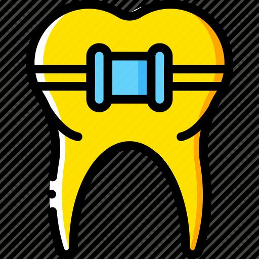 braces, clean, dentist, hygiene, medical, tooth icon