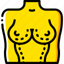 breast, clinic, cosmetic, medical, patient, surgery, surgical icon