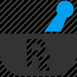 container, medical, medication, medicine, pharmacy, prescription, trench mortar icon