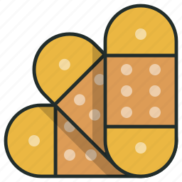 adhesive, aid, care, heal, hospital, patch, plaster icon