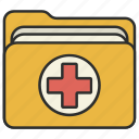 folder, healthcare, hospital, medical icon
